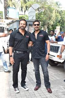 Ajay Devgn and Rohit Shetty at the trailer launch of Tanhaji: The Unsung Warrior