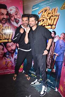 John Abraham and Anil kapoor during the promotions of Pagalpanti