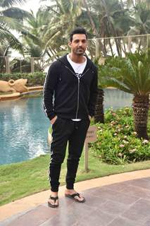 John Abraham during the promotions of Pagalpanti