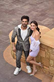 Pulkit Samrat and Kriti Kharbanda during the promotions of Pagalpanti