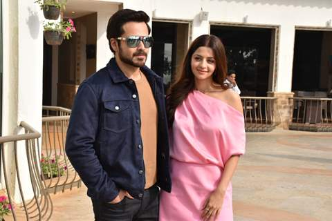Vedhika Kumar and Emraan Hashmi during the promotions of The Body