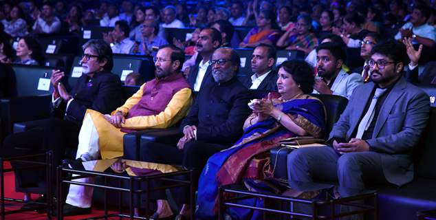 Amitabh Bachchan and Rajinikanth snapped during the inauguration of IFFI Goa 2019