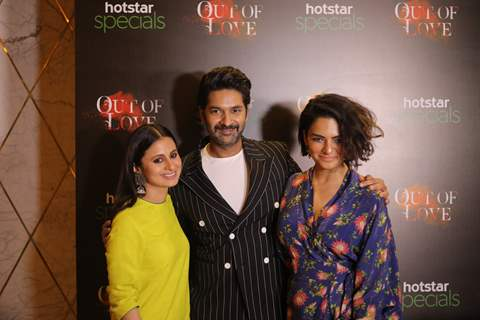 Rasika and Purab at the red carpet screening event of Hotstar specials Out of Love