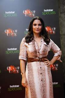 Lara at red carpet screening of Hotstar specials show Out of Love