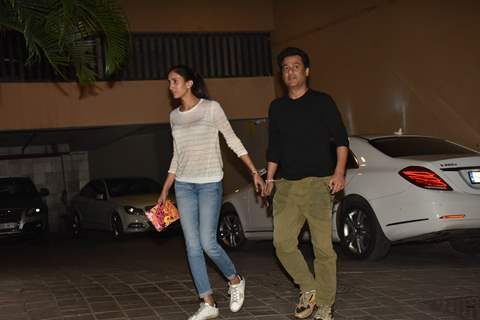 Abhishek Kapoor and his wife spotted around the town