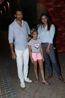 Barkha sengupta and Indraneil Sengupta with daughter