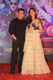 Salman Khan and Saiee Manjrekar at the song launch