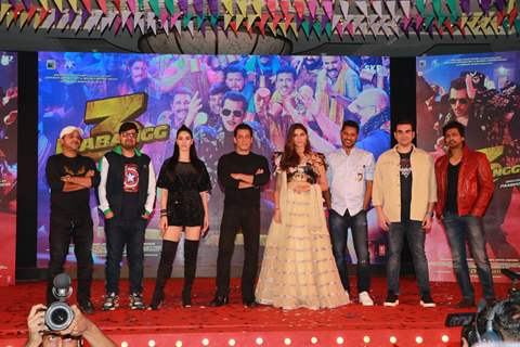Dabangg 3 cast at the song launch