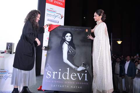 Deepika Padukone and Gauri Shinde at Sridevi's book launch