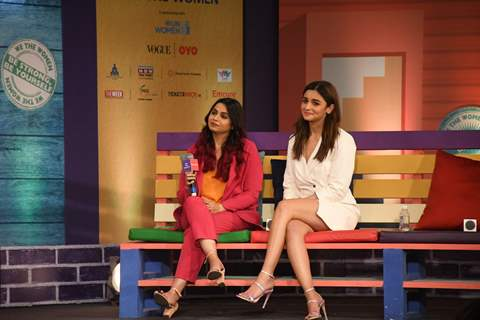 Alia Bhatt and Shaheen Bhatt at We The Women
