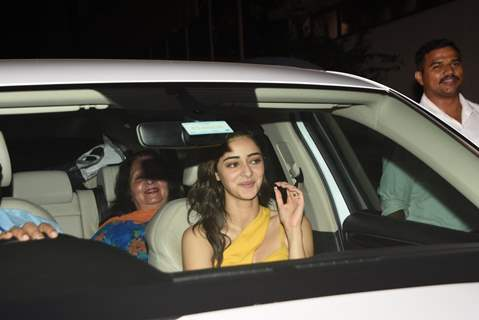 Ananya Panday attends the special screening of Pati Patni Aur Woh