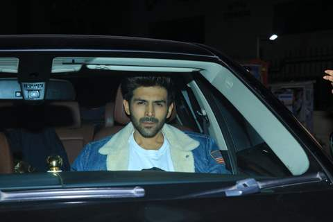 Kartik Aaryan at Pati Patni Aur Woh screening