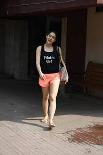 Sara Ali Khan snapped outside her pilates class