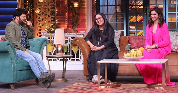 Deepika Padukone and Meghana Gulzar on The Kapil Sharma Show