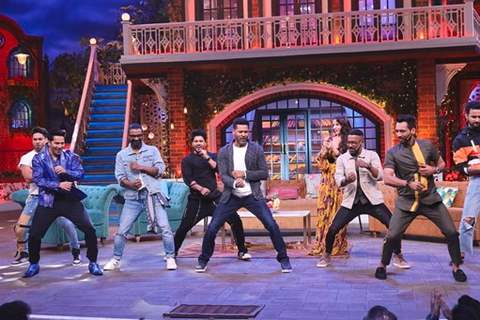 The cast of Street Dancer on The Kapil Sharma Show
