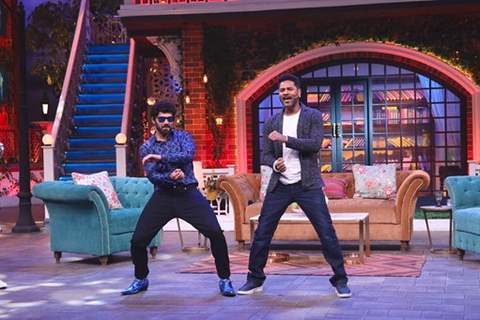 Prabhu Deva on the sets of The Kapil Sharma Show