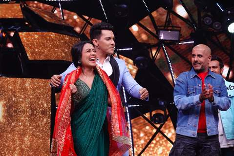 Aditya Narayan and Neha on Indian Idol 11