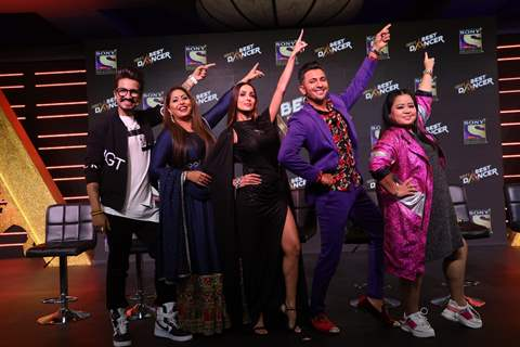 Geeta Kapur, Malaika Arora, Terence Lewis during the launch of India's Best Dancer