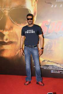 Ajay Devgn poses at the trailer launch of Sooryavanshi!
