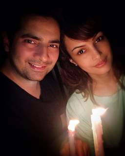 Karan Mehra with wife Nisha Rawal