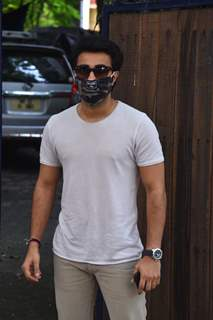 Aadar Jain snapped at dubbing studio