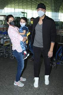 Shreyas Talpade and family snapped at Airport