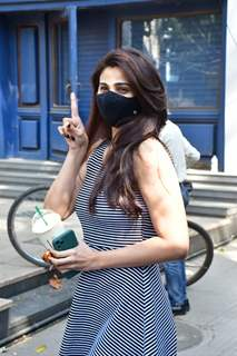 Daisy Shah spotted in Bandra