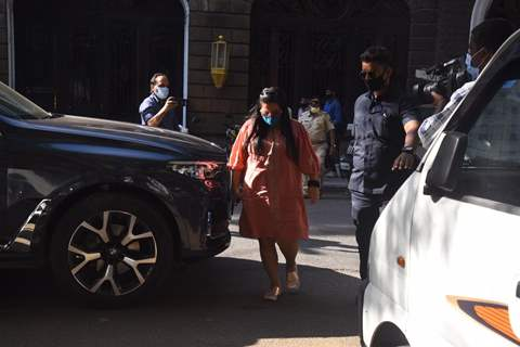 Bharti Singh and husband Harsh Limbachiya snapped outside the NCB office in Mumbai