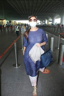 Dia Mirza snapped departing after her wedding!