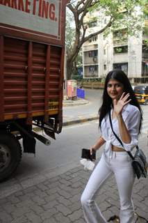 Anjini Dhawan spotted at Bandra
