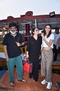 Ananya Panday, Charmi Kaur, Puri Jagannath spotted at Versova Jetty
