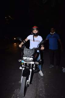 Radhika Madan spotted riding a bike in Juhu