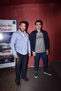 Salman Khan and Arbaaz Khan pose on the sets of talk show - Pinch