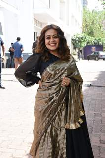 Neha Kakkar snapped at a shoot in Filmcity