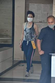 Preity Zinta spotted at a clinic in Bandra