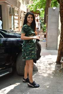 Mommy-to-be Geeta Basra snapped at a clinic in Khar