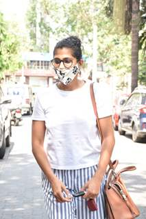 Kubbra Sait snapped at a clinic in Juhu