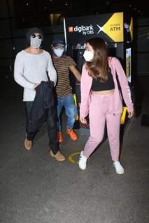 Varun Dhawan and Natasha Dalal return to Mumbai from their work trip!