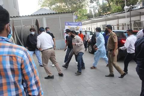 Salman Khan spotted at vaccination center in Dadar, Mumbai