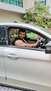 Karan Patel spotted in Andheri