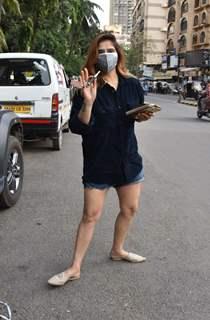 Aarti Singh snapped in Andheri