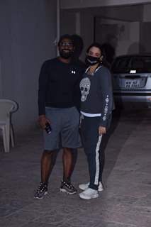 Remo D'Souza and his wife Lizelle D'Souza spotted in Andheri
