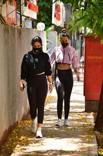 Neha Sharma and sister Aisha Sharma spotted in Bandra