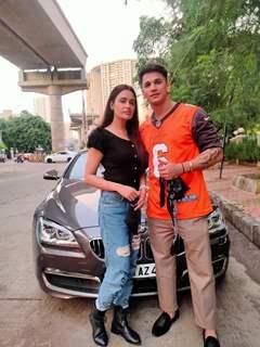 Prince Narula and Yuvika Chaudhary snapped in Andheri
