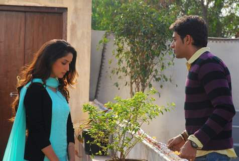 Abeer with Leher in tv show Yeh Pyaar Na Hoga Kam