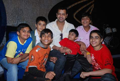 Raksha Bandhan on the sets of ''Chote Miya 2'' with Rahul Mahajan, in Mumbai