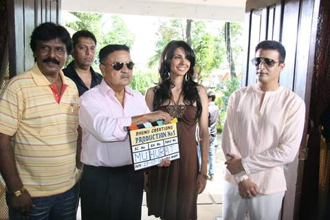 Nikita Anand and Jimmy Shergill at Mahurat of Bhumii Creations in MUmbai