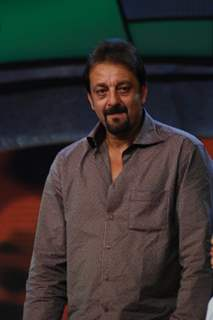 Bollywood actor Sanjay Dutt on the sets of Sa Re Ga Ma Pa L''il Champs on Zee at Famous, in Mumbai