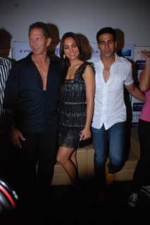Lara Dutta and Akshay Kumar on promotional event of their film ''Blue'' in Mumbai
