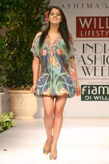 "Chess Player Tania Sachdev on the ramp during ""The Ashima and Leena Show"" at the Wills Lifestyle India Fashion Week in New Delhi on Saturday 24 Oct 09"